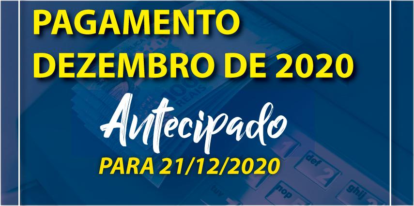 Antecipação de Pagamento de Dezembro 2020