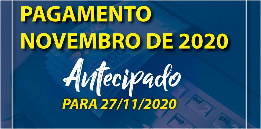 Antecipação de Pagamento de Novembro 2020